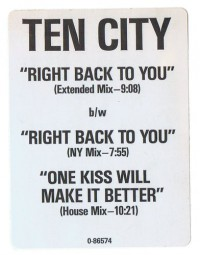 Ten City-Right back to you_Sticker_